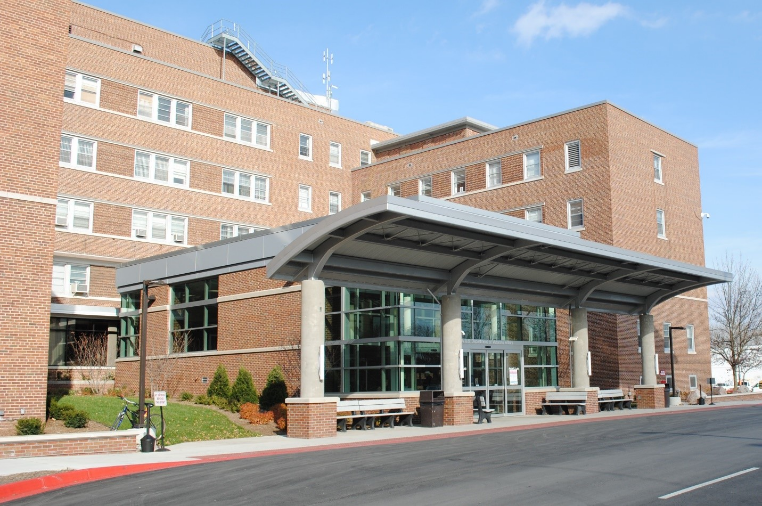 View of main entrance at Saginaw (Michigan) VA Medical Center