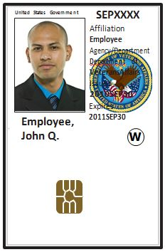 sample personal identification verification card