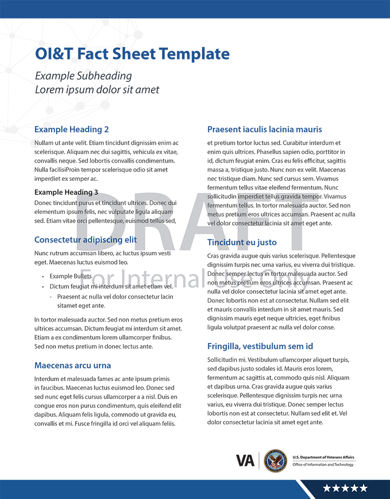 OIT Design Guide Resources – Fact Sheet Template