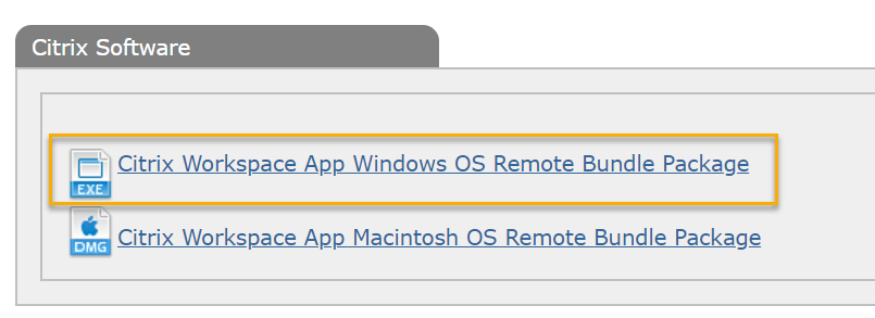 Software downloads with windows installer highlighted